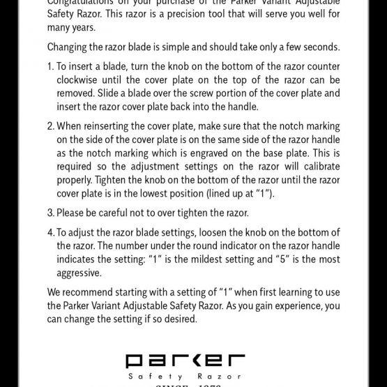 Parker Variant manual