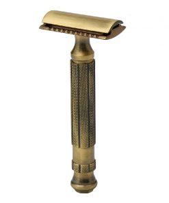 Pearl Antique Brass Suljettukampainen Partahöylä